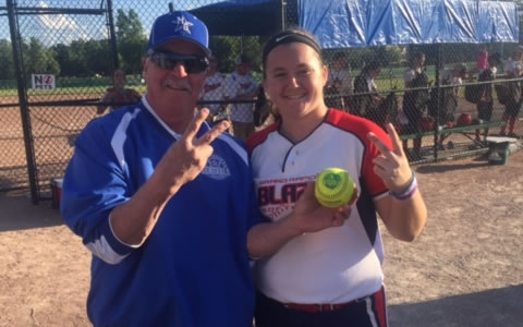 Aurora Wilks: 2 home runs, 1 was a walk off, for the weekend